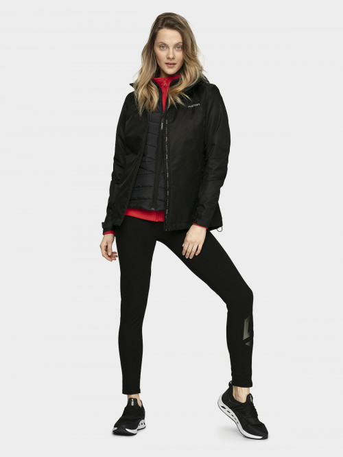 Women's functional jacket KUDT600  deep black