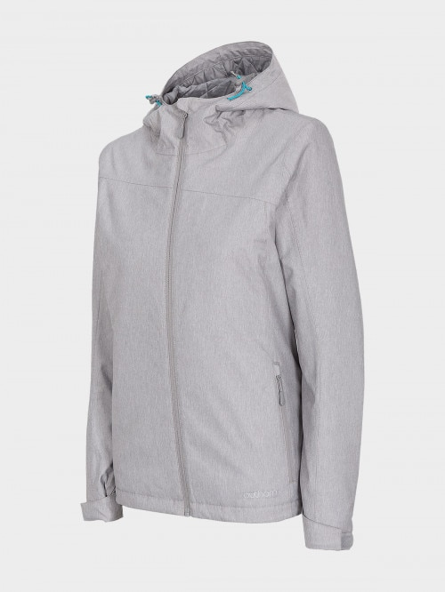Women's ski jacket KUDN600  cold light grey melange