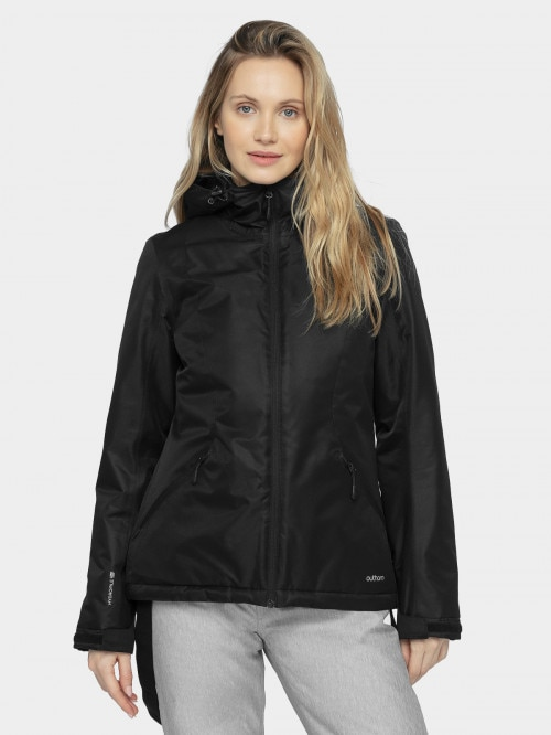 Women's ski jacket KUDN600  deep black