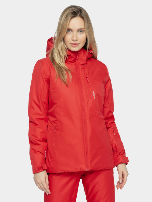 Women's ski jacket KUDN601  dark red