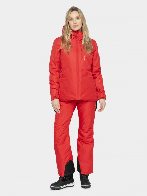 Women's ski jacket KUDN601 - dark red