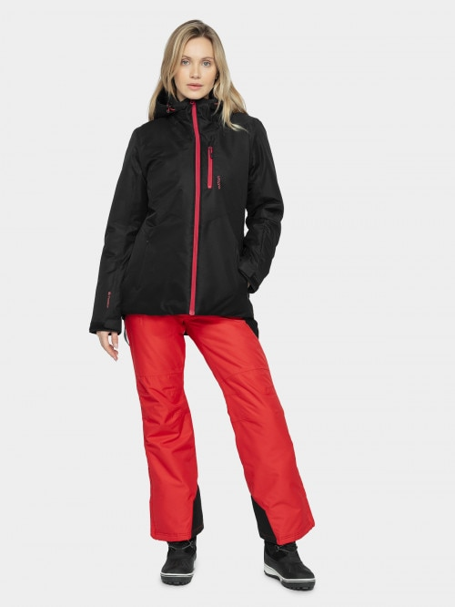Women's ski jacket KUDN601 - deep black