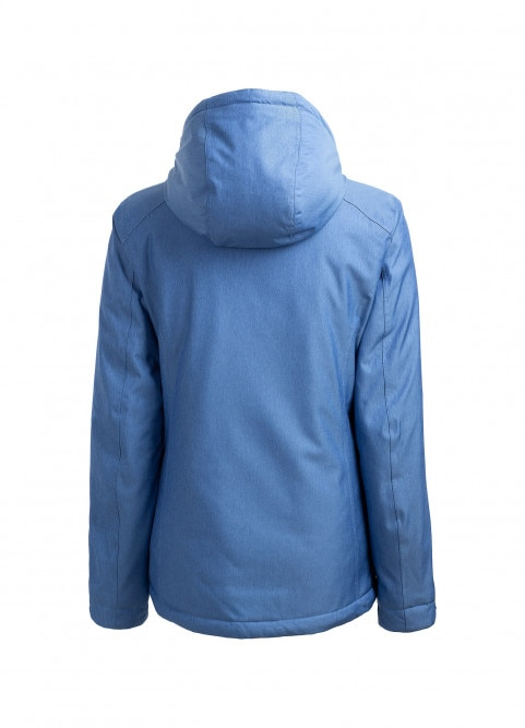 Women's ski jacket KUDN601 - blue melange