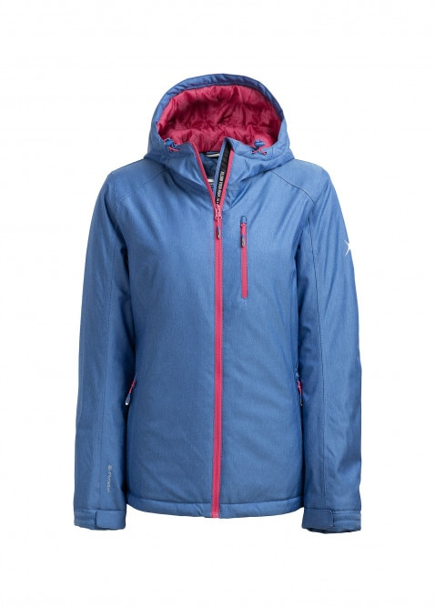 Women's ski jacket KUDN601  blue melange