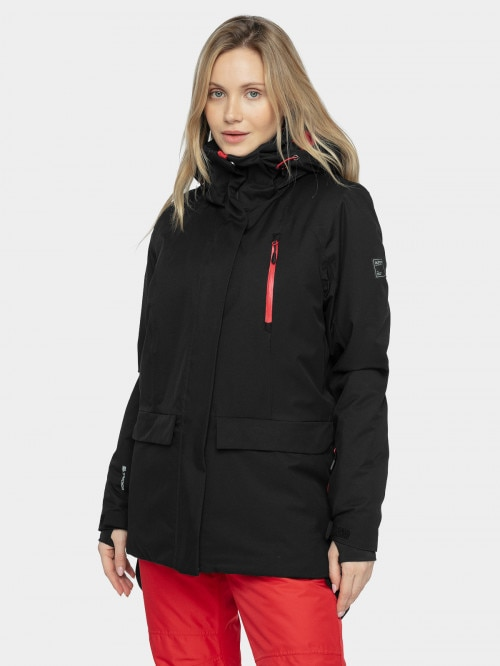 Women's ski jacket KUDn603  deep black