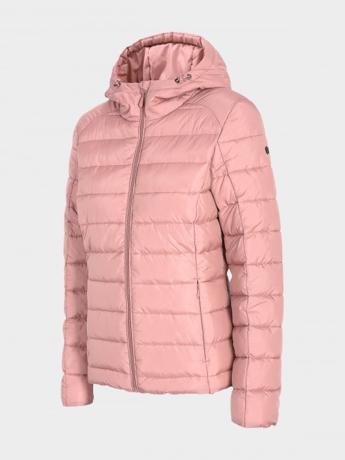 Women's down jacket KUDP602 - dark pink