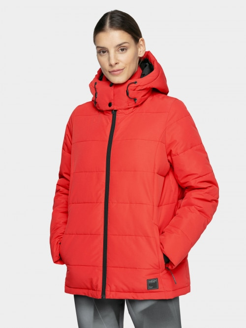 Women's down jacket KUDP603  dark red
