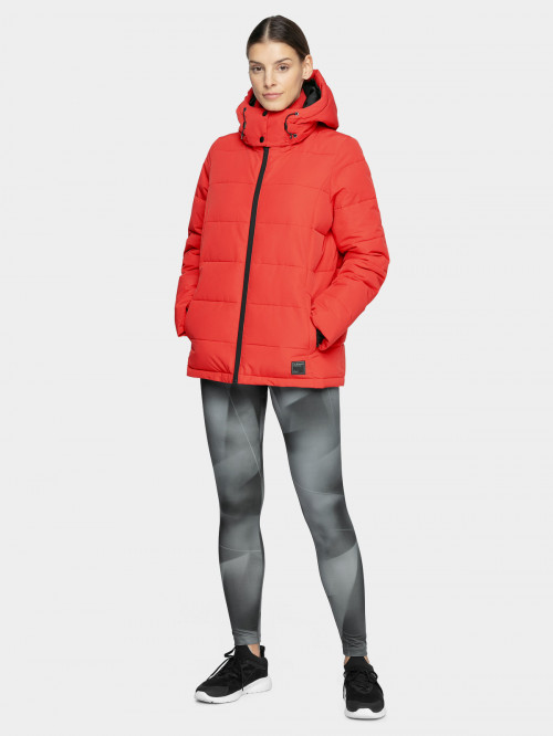 Women's down jacket KUDP603 - dark red