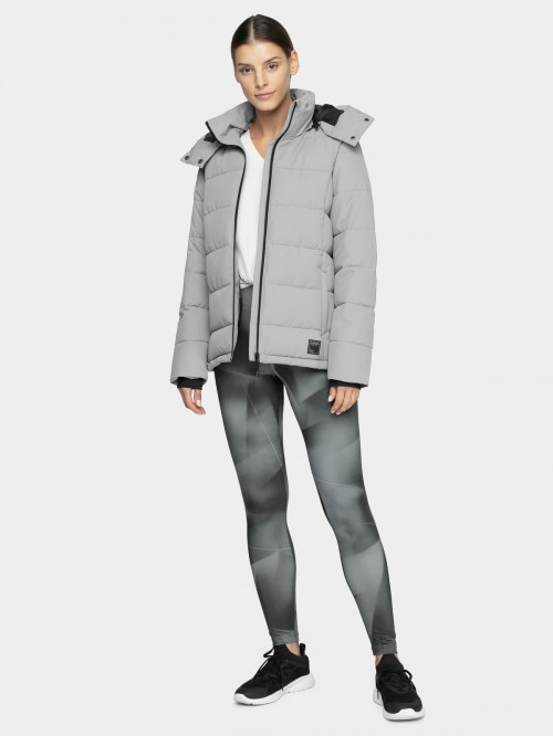 Women's down jacket KUDP603 - grey