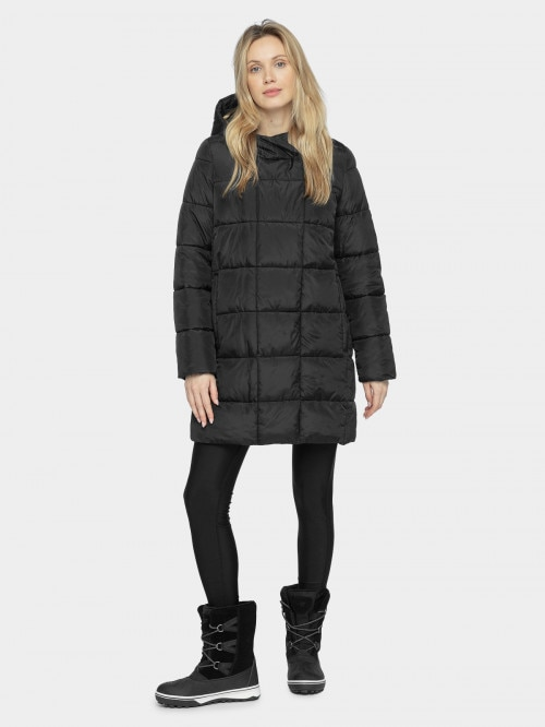 Women's down jacket KUDP604 - deep black