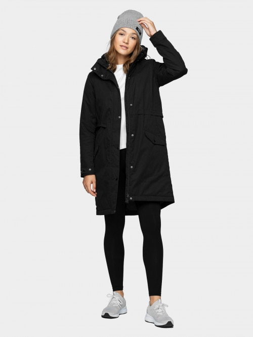 Women's urban coat KUD600  deep black