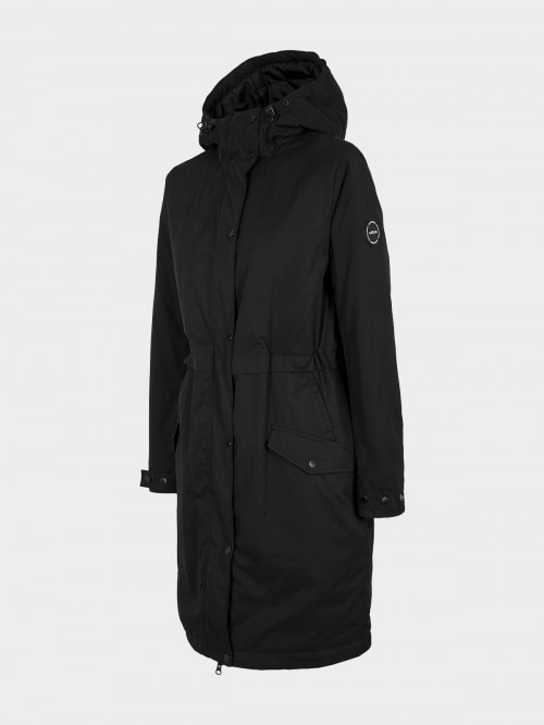 Women's urban coat KUD600 - deep black