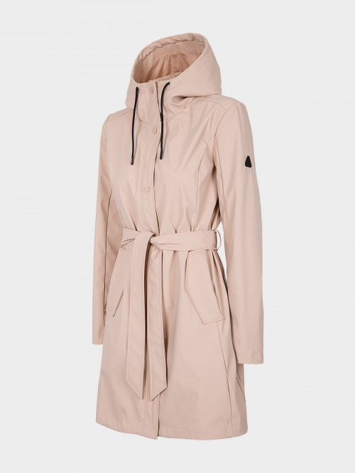 Women's urban coat KUD603 - light pink