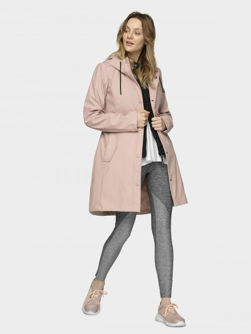 Women's urban coat KUD603  light pink