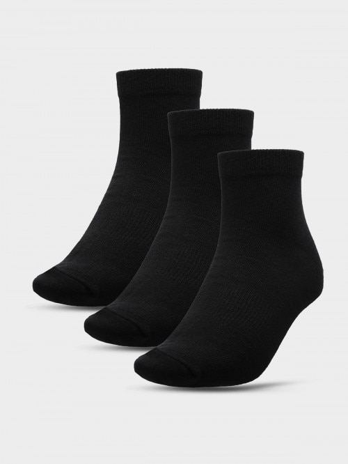Men's socks (3 paris) SOM600A  deep black+deep black+deep black