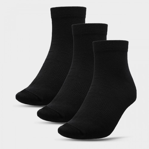 Men's socks (3 paris) SOM600A - deep black+deep black+deep black