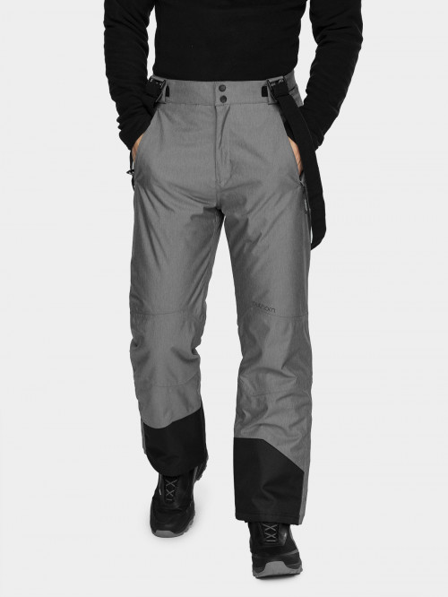 Men's ski pants SPMN600 - middle grey melange