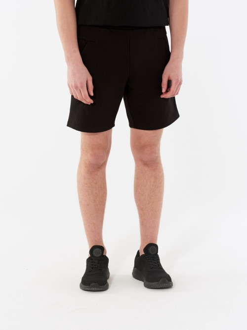Men's knit shorts SKMD601 - deep black